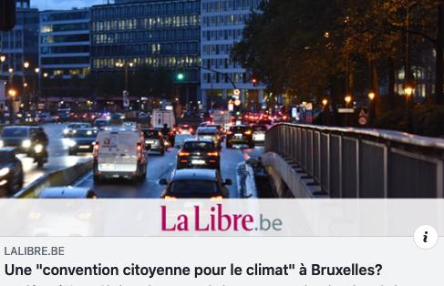 """Une """"Convention citoyenne pour le Climat"""" à Bruxelles !"""