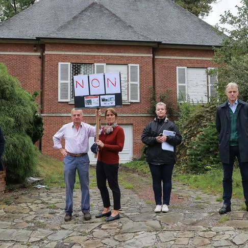 Non à l'extension de l'ambassade de Chine à Woluwe-Saint-Pierre