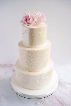Sparkly white cake