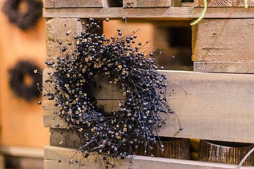 Trockenblumenkranz schwarz