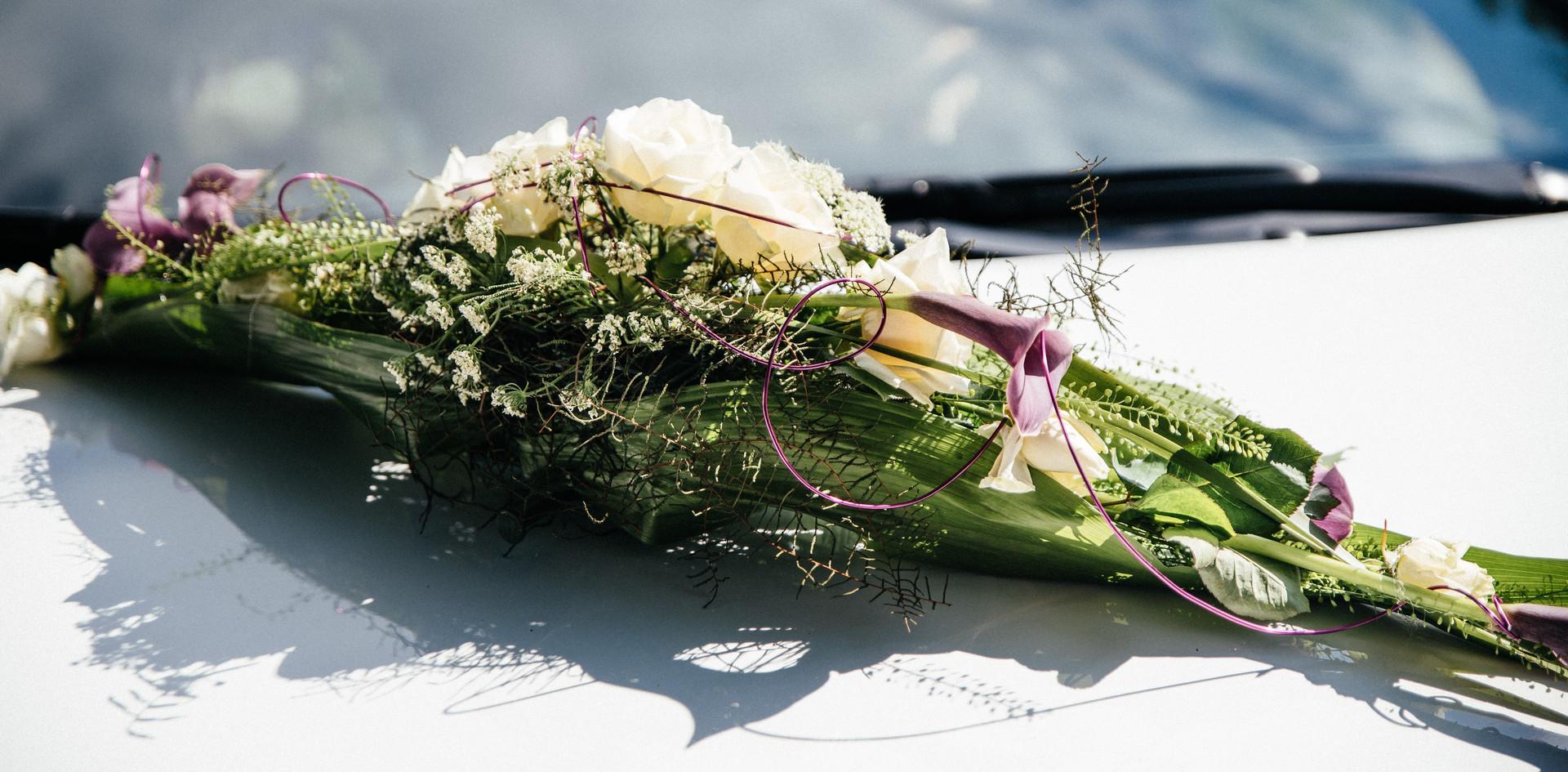 Autogesteck Hochzeit modern