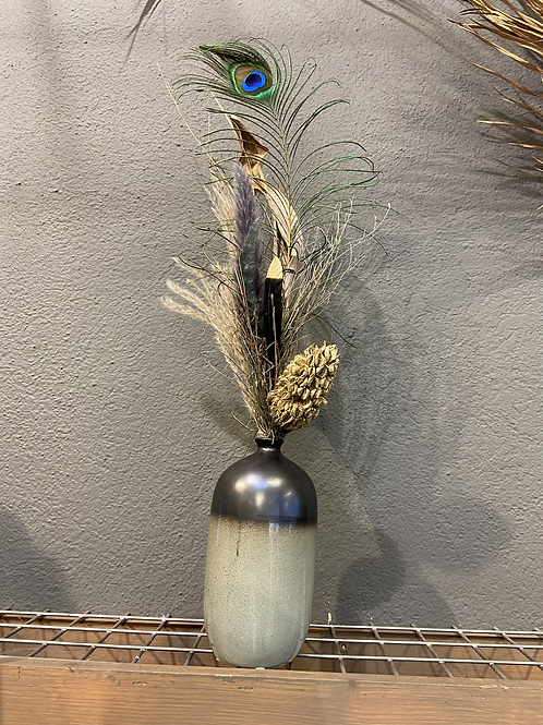Trockenstrauß Pfau WOW in Vase