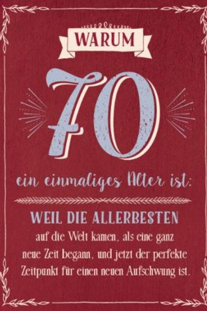Geburtstag - 70 Jahre