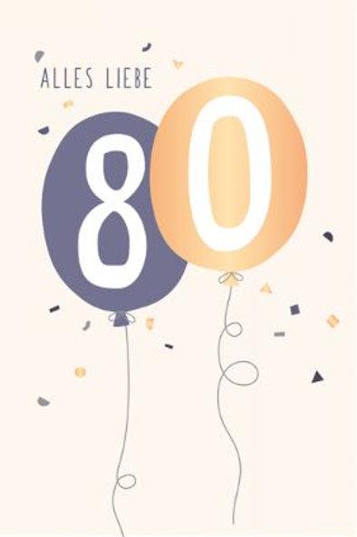 Geburtstag - 80 Jahre