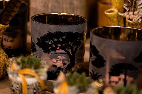 Teelicht Glas Afrika Xl