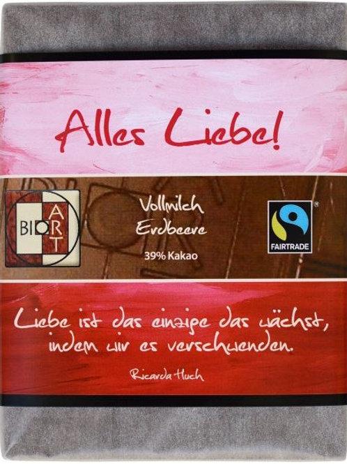 Alles Liebe - Vollmilch Erdbeere