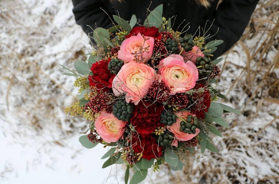 Der Winter/Frühlings Brautstrauß
