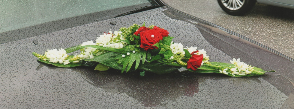 Autogesteck rot Hochzeit