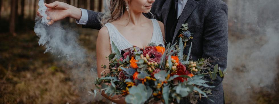 Brautstrauß wald