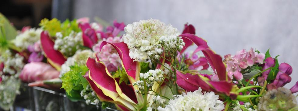 Gasthaus Hochzeit Blumen pink