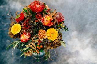 Blumenstrauß farbenfroh, Florist, Schnittblumen, Gärtnerei Thellmann