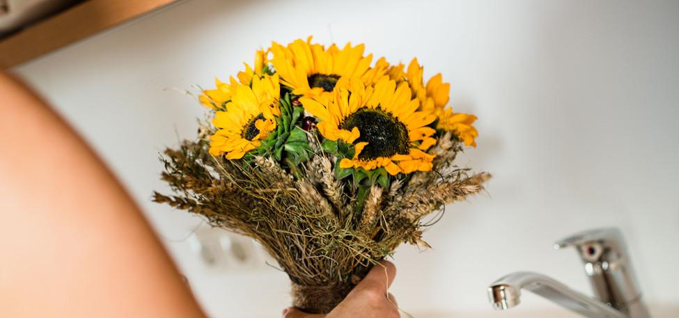 Sonnenblumen Brautstrauß