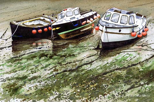 'Boats Porthleven' by Paul Dene Marlor
