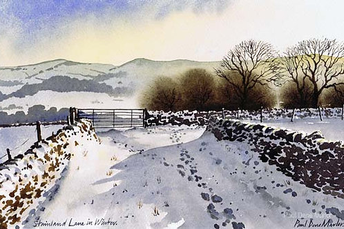 'Stainland Lane in Winter' by Paul Dene Marlor