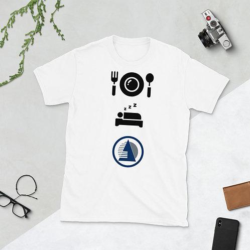 Short-Sleeve Unisex T-Shirt - eat sleep atrium
