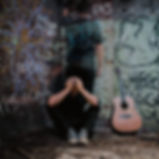 mike, hamel, lies, brick, graffiti, acoustic, guitar,
