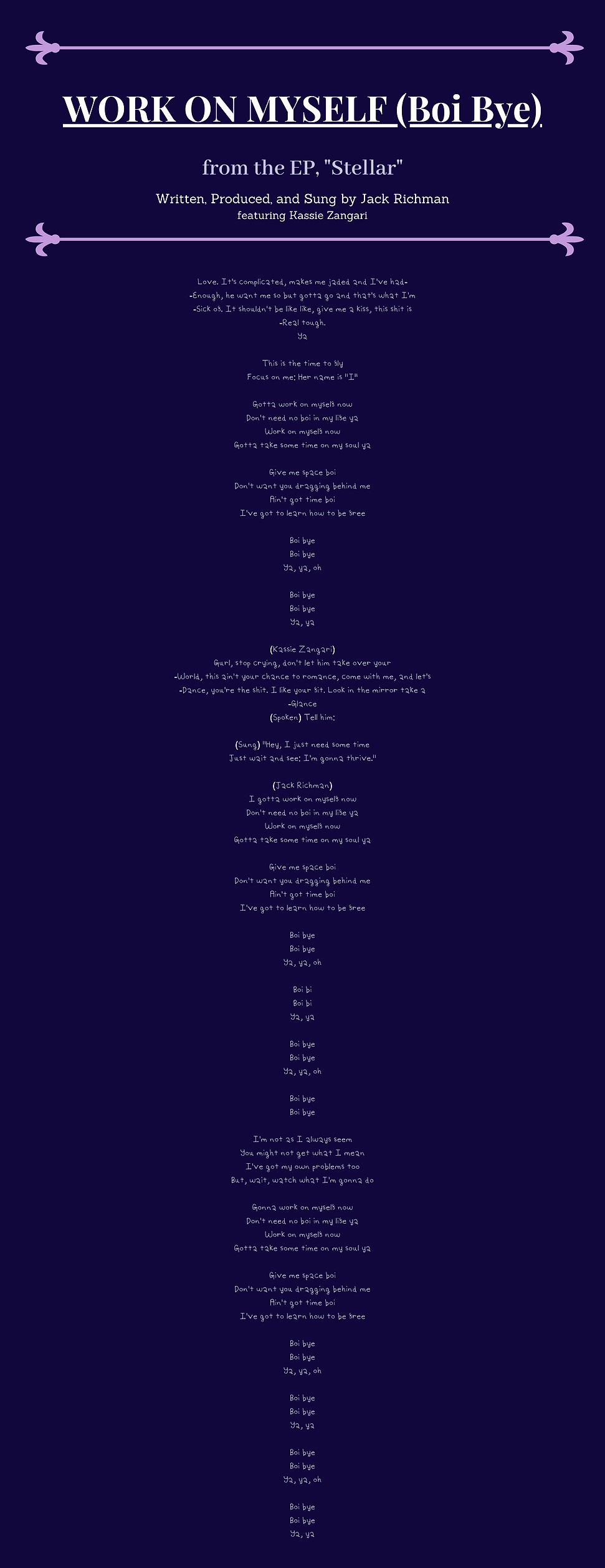 Work on Myself Lyrics.png