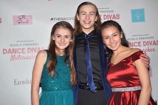 Jack, Rachael McVey, and Miranda DeMott at the Dance Divas Premire Red Carpet