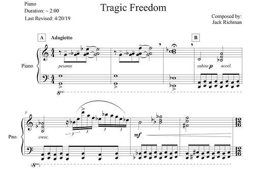 """""""Tragic Freedom"""" - Digital Sheet Music"""