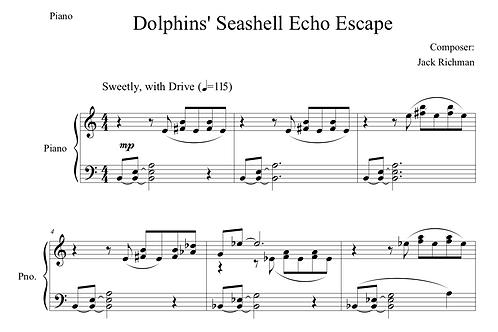 """Dolphins' Seashell Echo Escape"" - Digital Sheet Music"