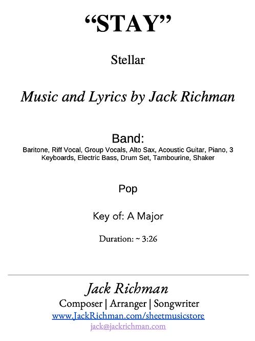 """Stay"" - Digital Sheet Music"