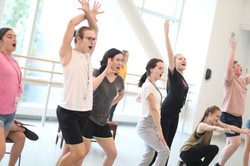 High School Musical Rehearsal Photo