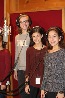 Jack and Cast Members of Dance Divas at the Recording Session for the Cast Album