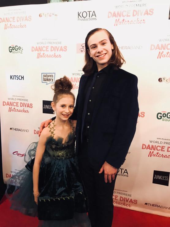 Jack and Elliana Walmsley at the Dance Divas Premire Red Carpet