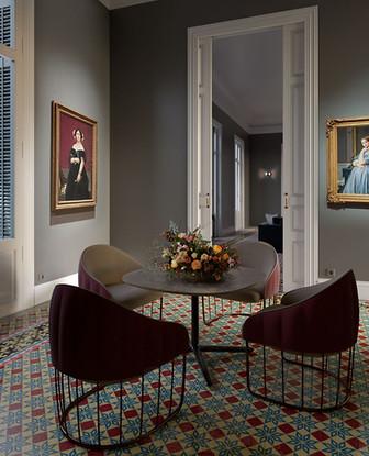 interior  art room eixample barcelona