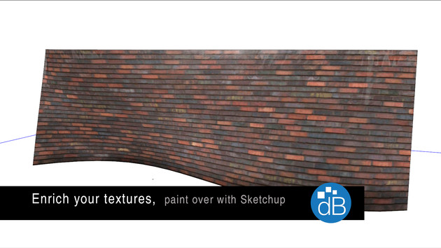 Enrich your textures , skp paint over