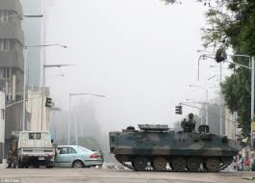 A peaceful coup d'etat, as tanks rolls into Harare