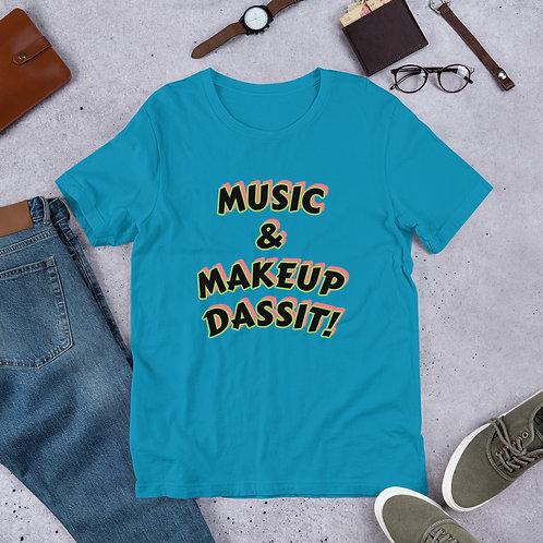 MUSIC AND MAKEUP T-SHIRT