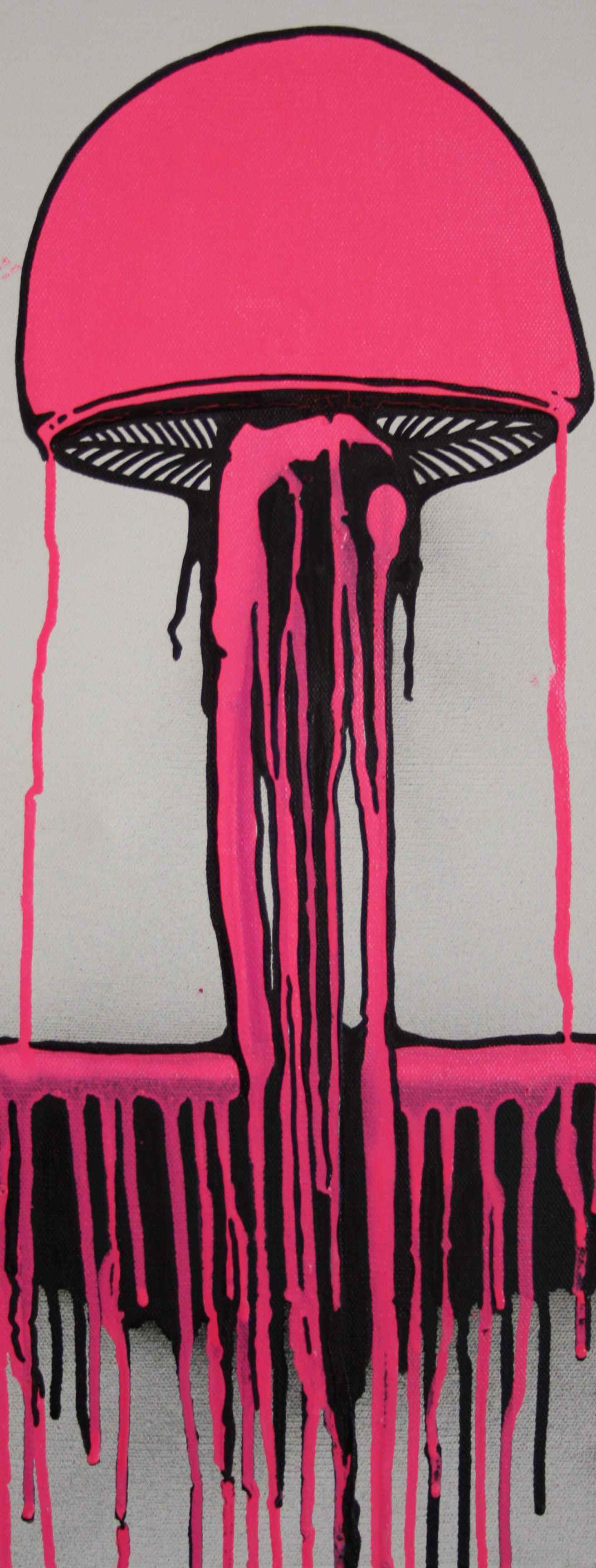 Pink Drippy Mushroom