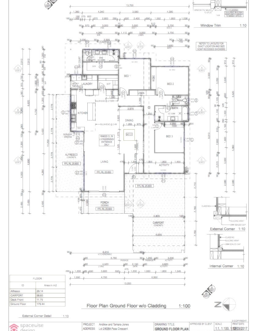In Building Documentation Stage we prepare the documentation for Building Permit and Construction Drawings. Documentation includes: Site Plan, Floor Plan(s), Plumbing and Set Out Site Plan, Reflected Ceiling Plan, Electrical Plan, Roof Plumbing Plan, Elevations, Sections, Details if required by Builder, Layout Drawings and Internal Elevations of wet areas, Window and Door Schedules, Specifications and Schedule of Finishes.​