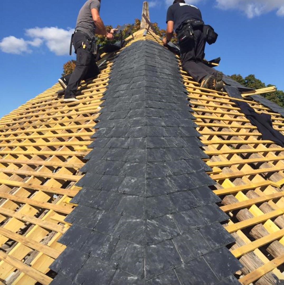 Rénovation des toitures ardoises