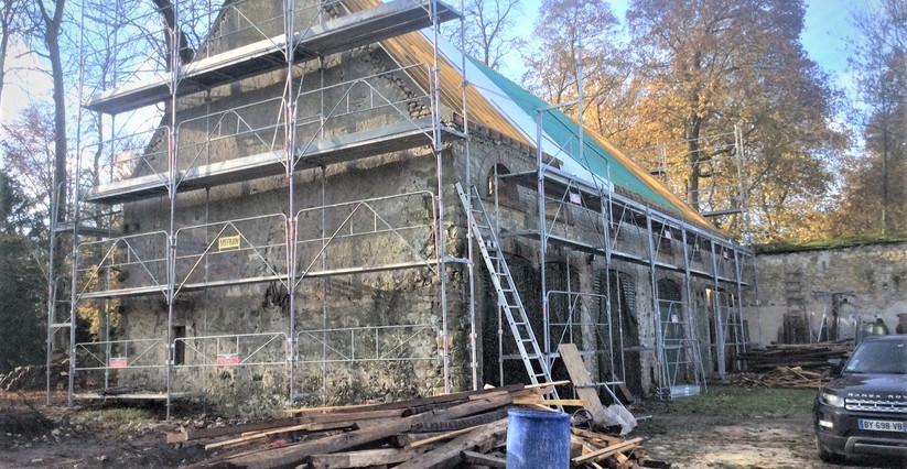 Rénovation en cours de la Grange