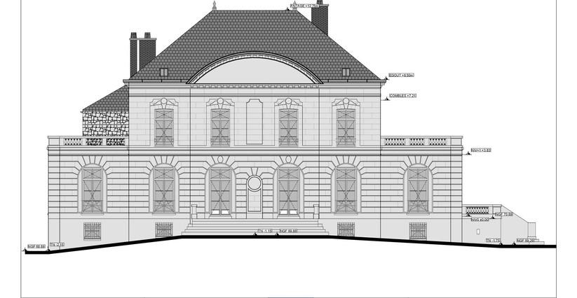 plan façade - Pierres sciées