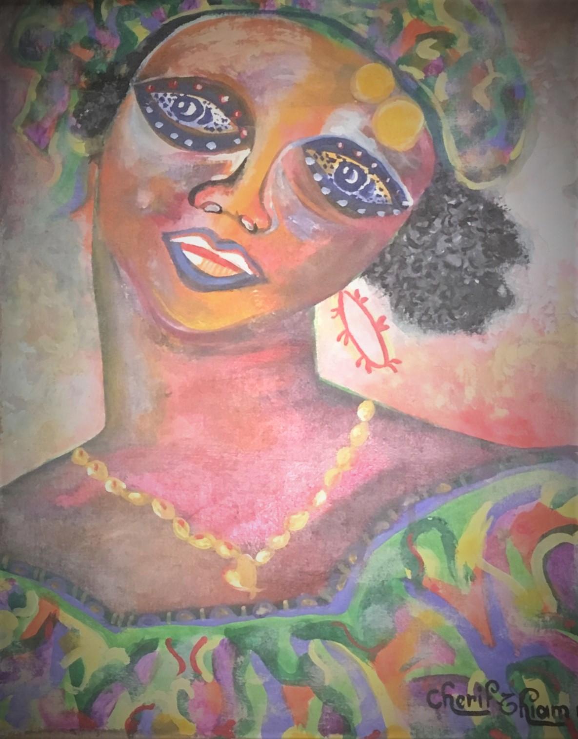 Peintre Africain - Sénégalais à Créarts-
