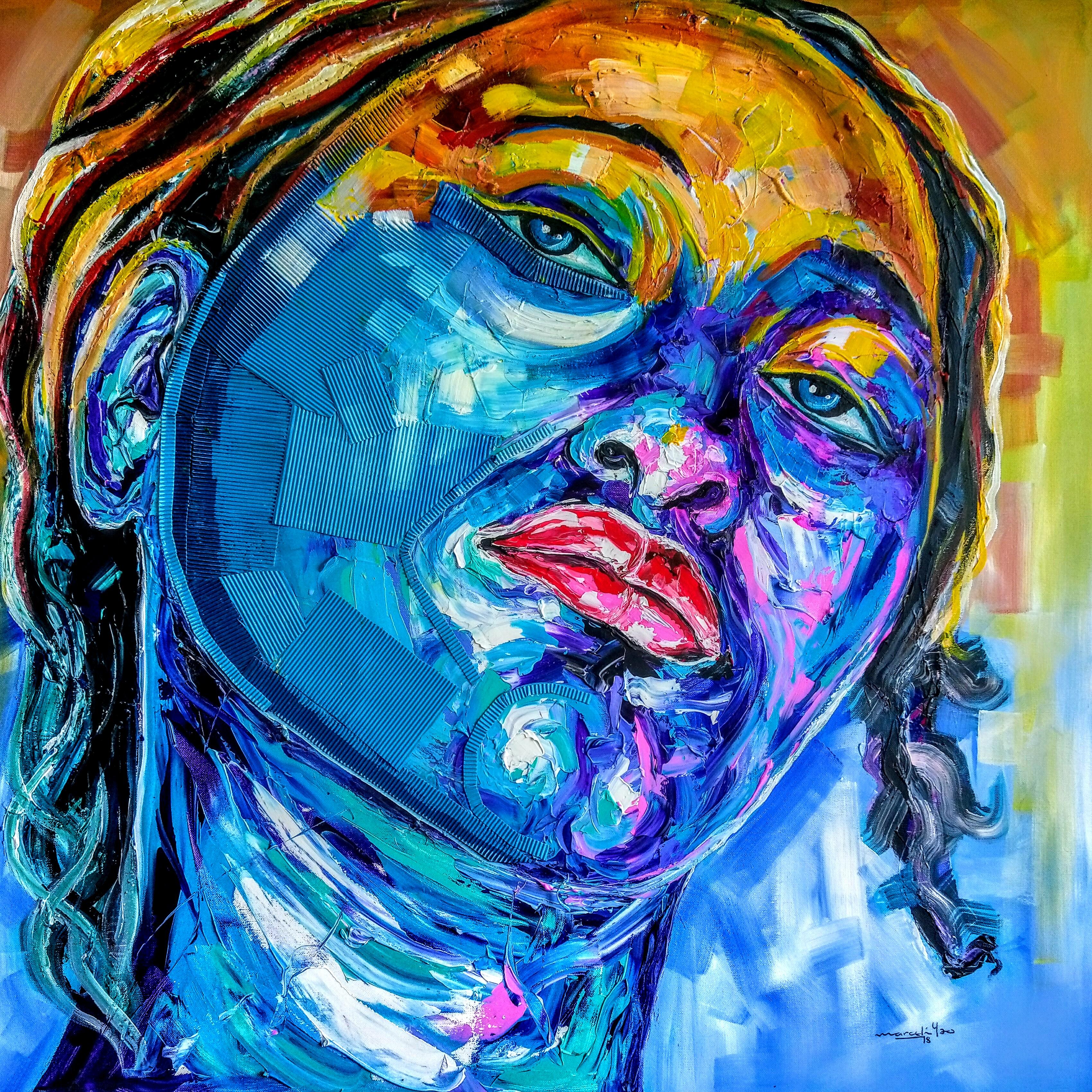 YAO-1 - FEMME ECLAIREE - 100 x 100