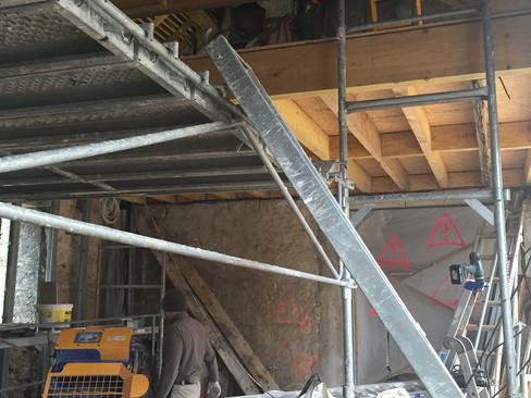 Réalisation d'un plancher intermédiaire en structure bois