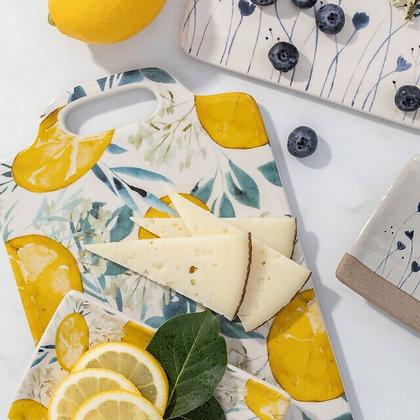 Lemon Print Cheese Board