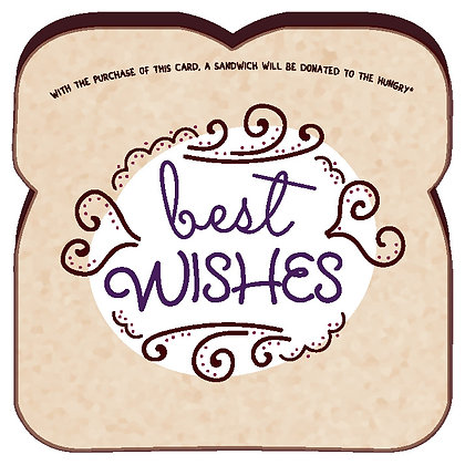 """Best Wishes"" Card by Food For Thoughts"