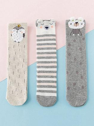 Assorted Kids Knee High Socks