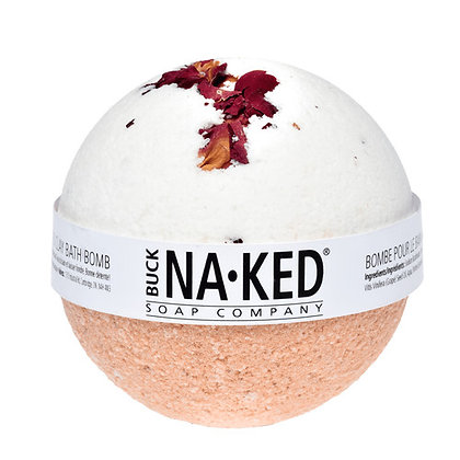 Buck Naked Rose w/Moroccan Red Clay Bath Bomb