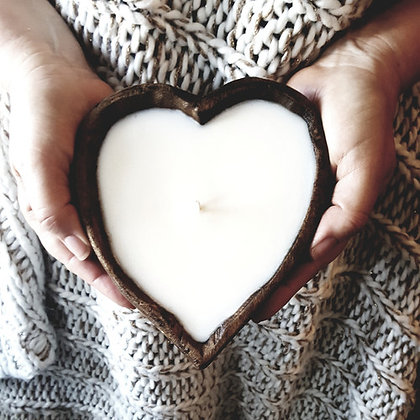LiveYoung Candle Company Heart Dough Bowl Candle