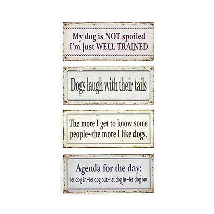 Tin Dog Wall Signs