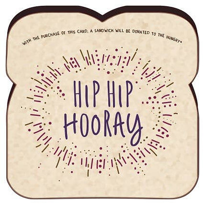Food For Thoughts Hip Hip Hooray Card