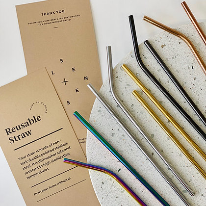 Stainless Steel Straw Assortment