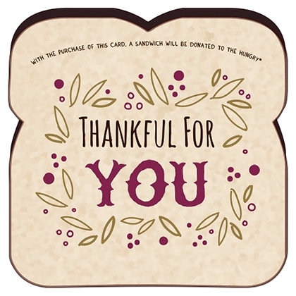 """""""Thankful For You"""" Card By Food For Thoughts"""