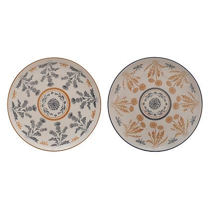 Thistle Pattern Stoneware Plate